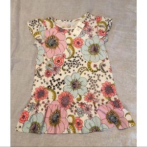 Girls gap shirt tunic with flowers new